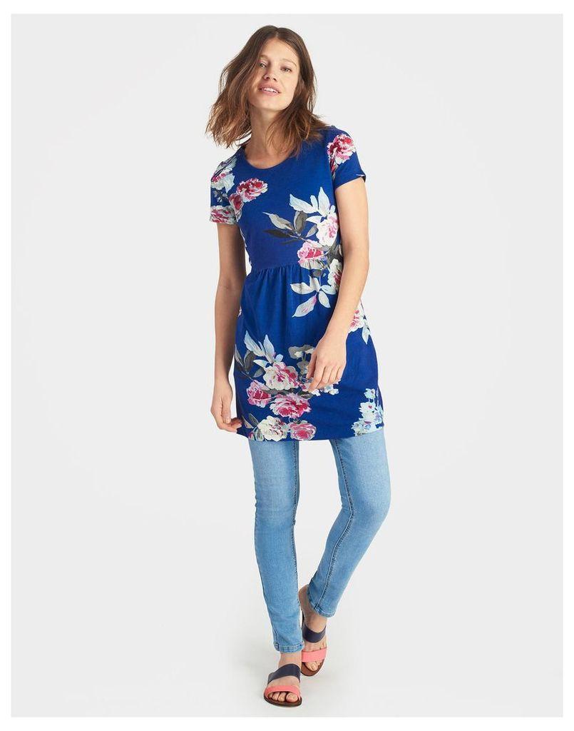 Pool Blue Beau Bloom Madison Jersey Tunic  Size 8   Joules UK
