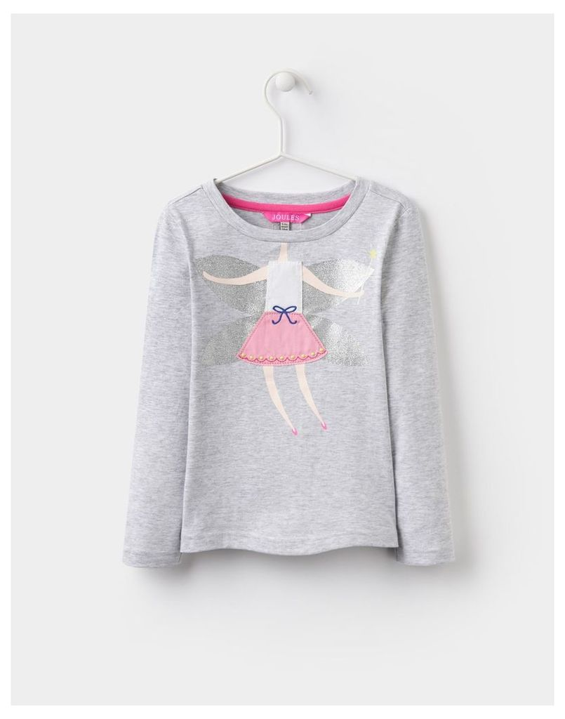 Silver Fairy Ava Applique Jersey Top  Size 11yr-12yr   Joules UK