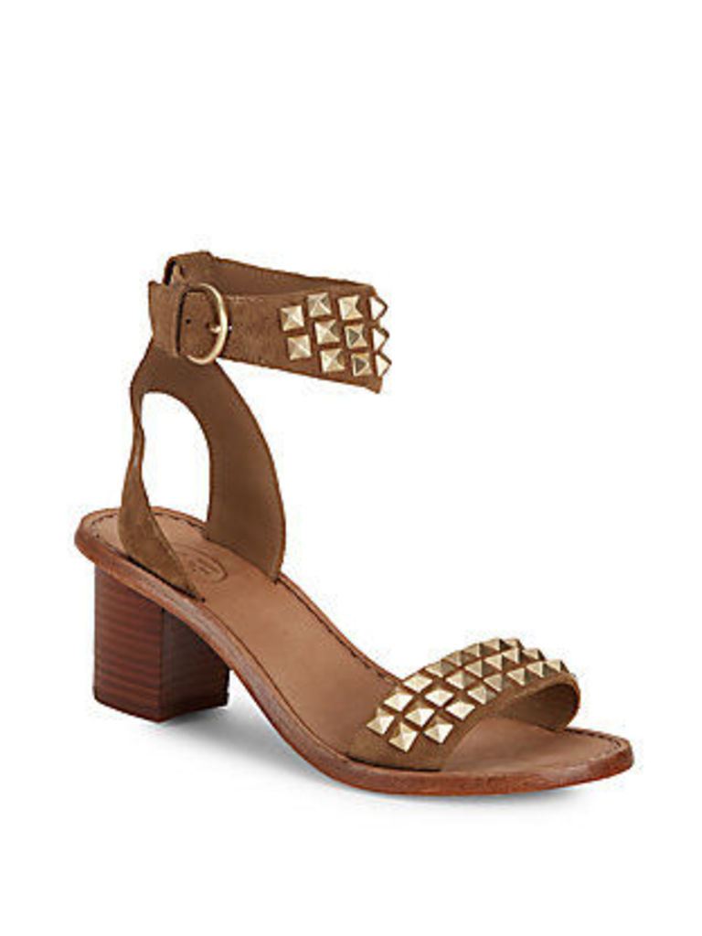 Pearl Open-Toe Leather Sandals
