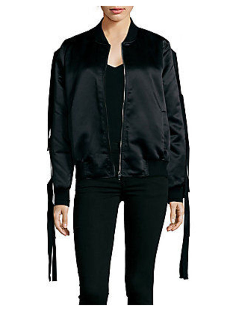 Stand Collar Zippered Bomber