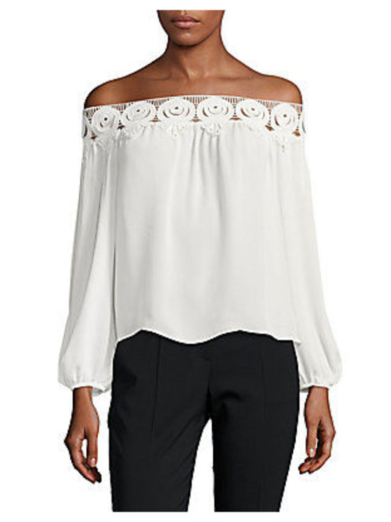Kyoko Lace Off-The-Shoulder Top