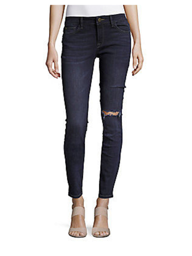 Florence Distressed Ankle-Length Jeans