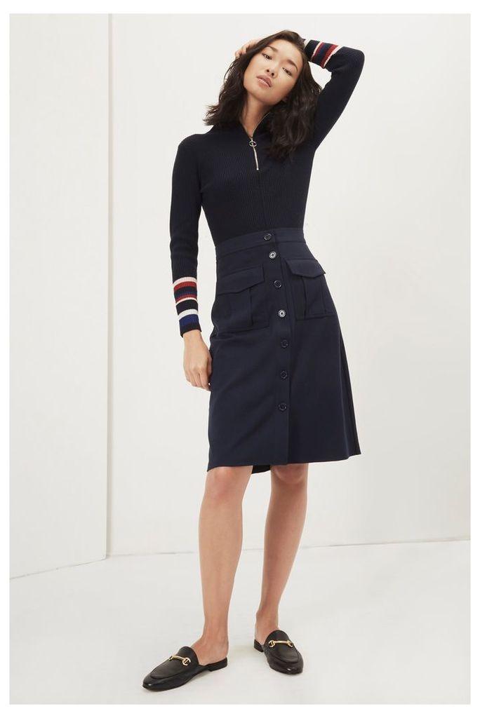 Freya Brushed Suiting Skirt