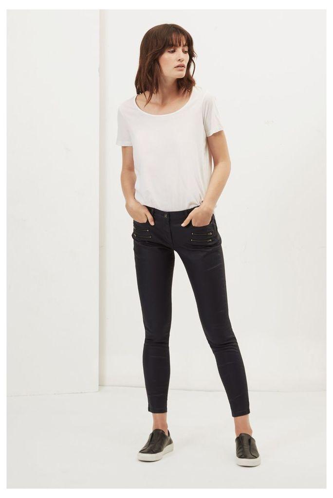 Oiled Denim Skinny Jeans