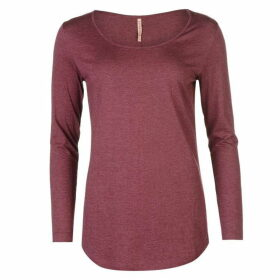 Rock and Rags Scooped Marl Top - Burgundy Marl