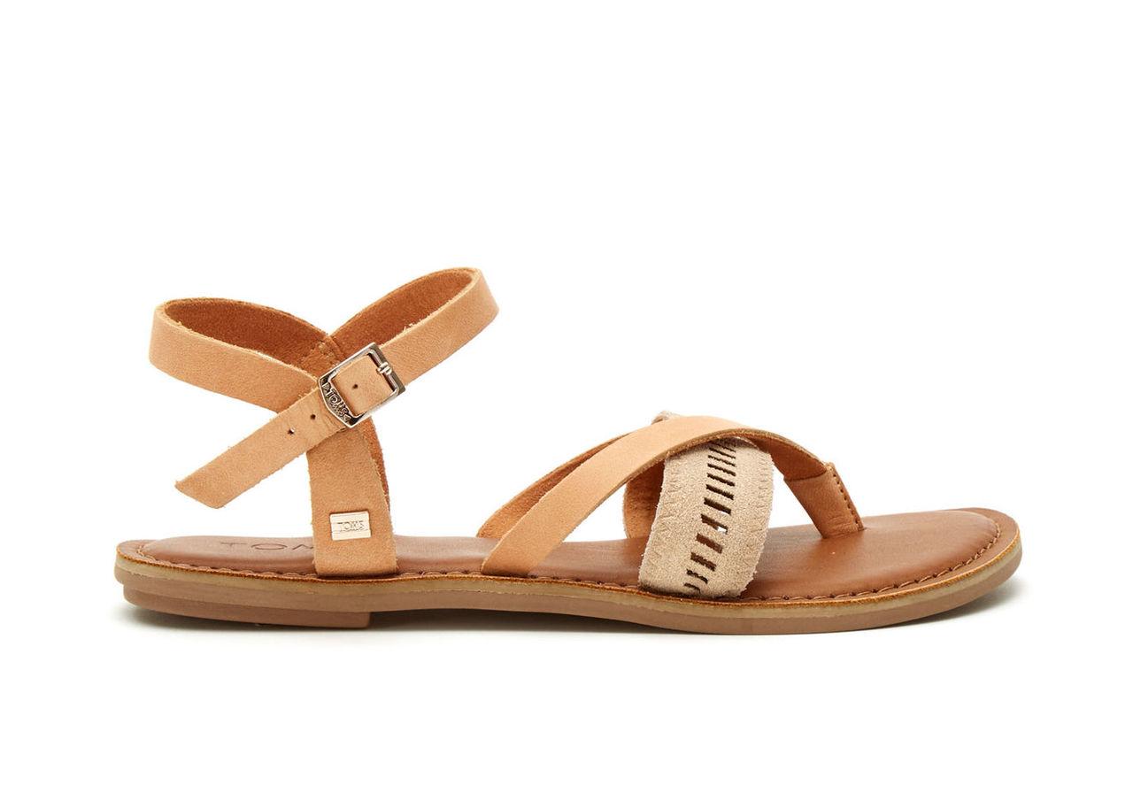 Sandstorm Leather Metallic Women's Lexie Sandals