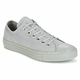 Converse  CHUCK TAYLOR ALL STAR MONO PLUSH SUEDE OX DOLPHIN/DOLPHIN/DOLPHI  women's Shoes (Trainers) in Grey