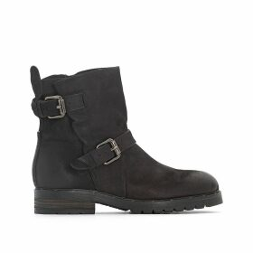 Pepes Leather Ankle Boots