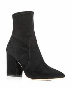 Loeffler Randall Women's Isla Pointed Toe Block Heel Booties