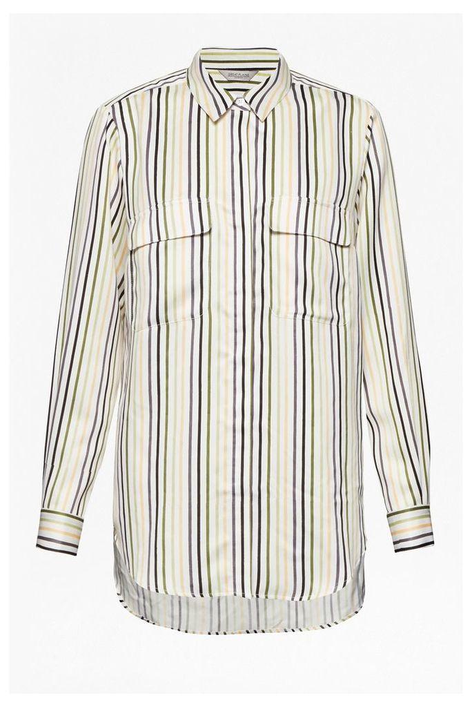 Rainbow Stripe Pocket Shirt
