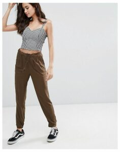 Pimkie Peg Leg Trousers - Khaki