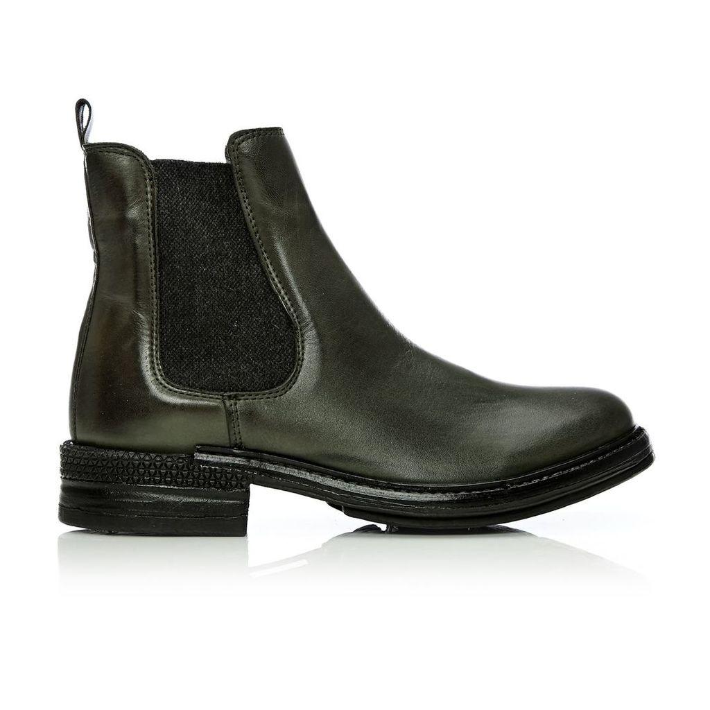 Moda in Pelle Calisian Khaki Low Casual Short Boots