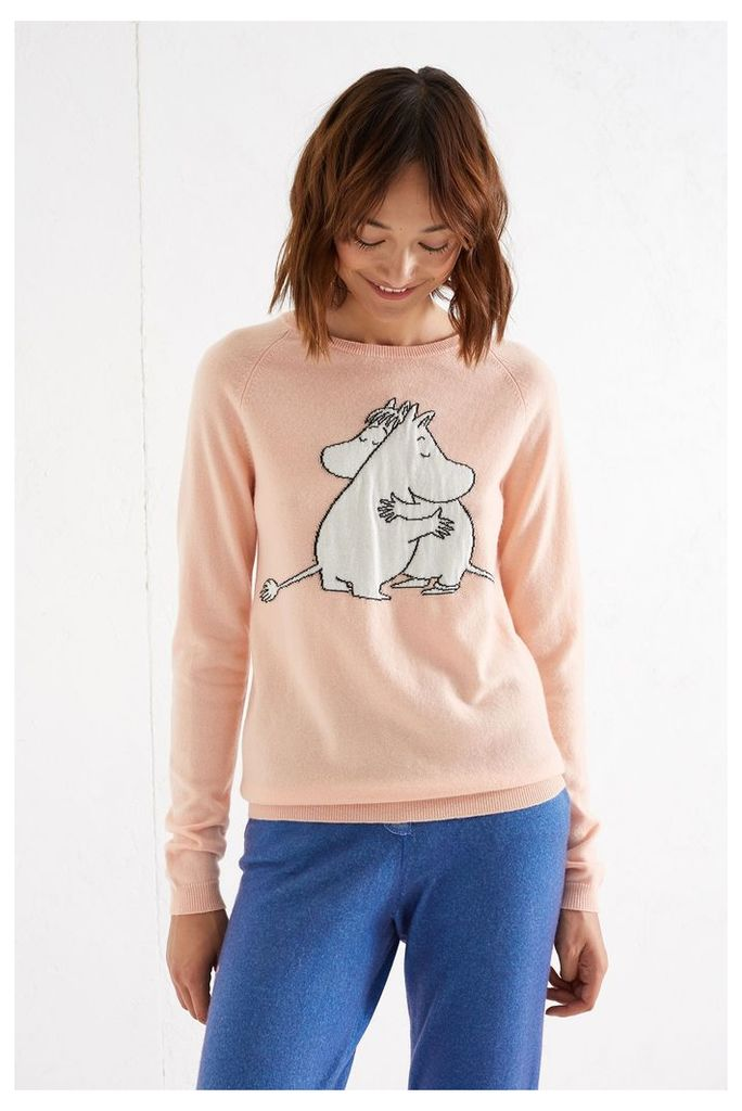 Pink Moomin & Snork Maiden Embrace Cashmere Sweater