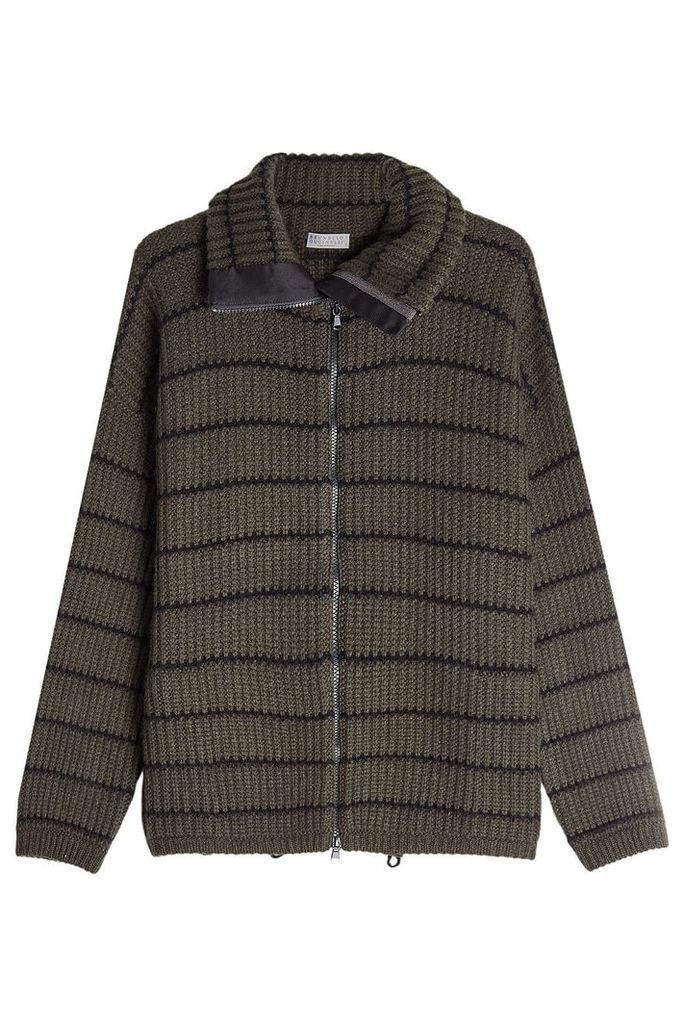 Brunello Cucinelli Zipped Cashmere Jacket