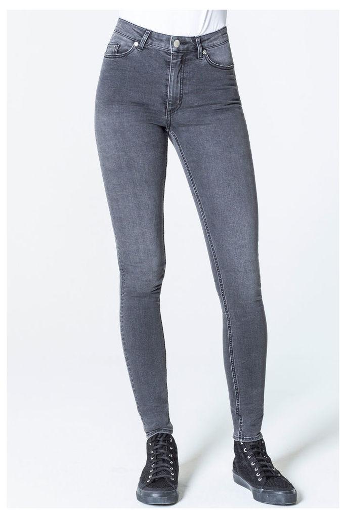 High Skin Snap Arrow Black Jeans