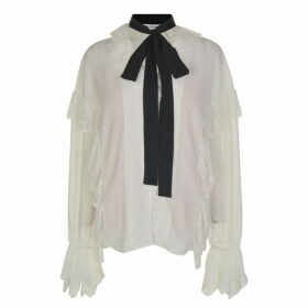 Perseverance London Lace Ruffle Blouse