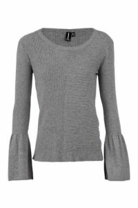 Fluted Sleeve Knit Jumper