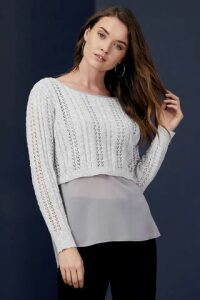 Layered Knit Top