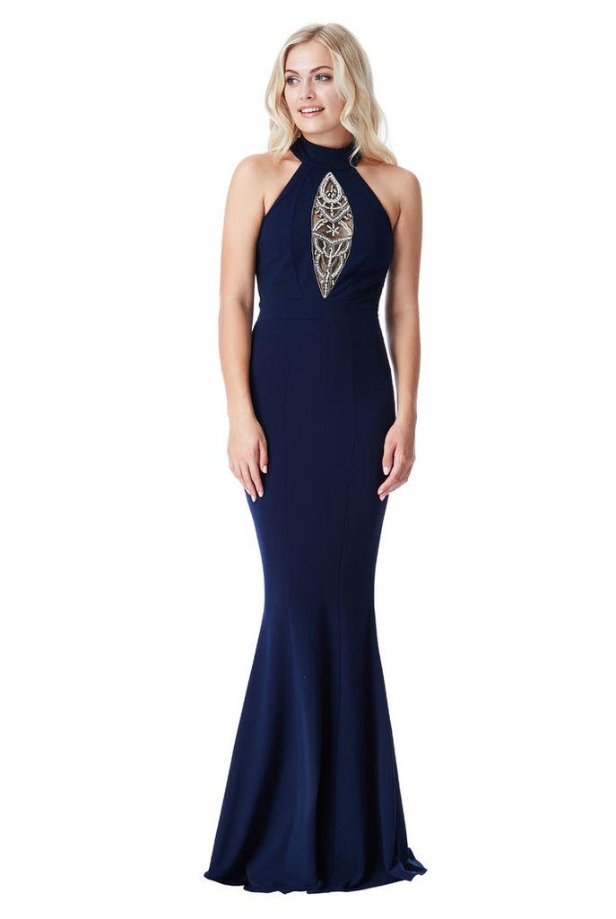Embellished Maxi Dress - Navy