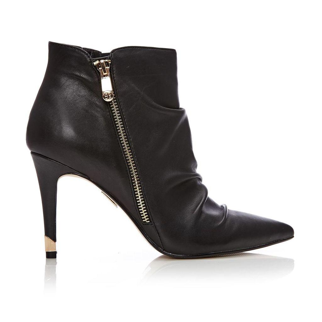 Moda in Pelle Lazaro Black High Smart Short Boots