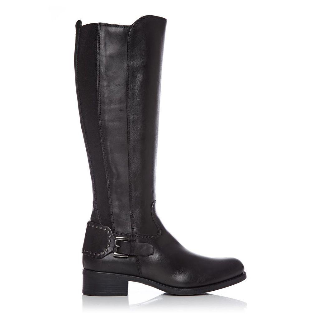Moda in Pelle Scarlottan Black Low Smart Long Boots