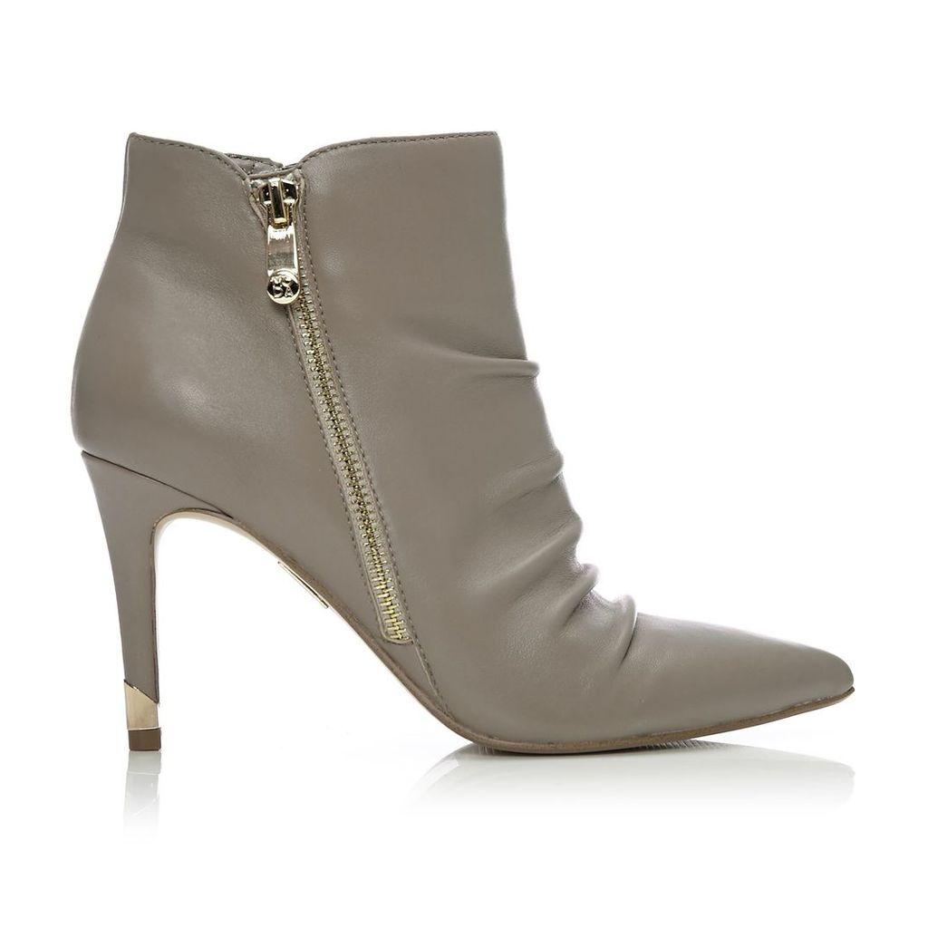 Moda in Pelle Lazaro Grey High Smart Short Boots