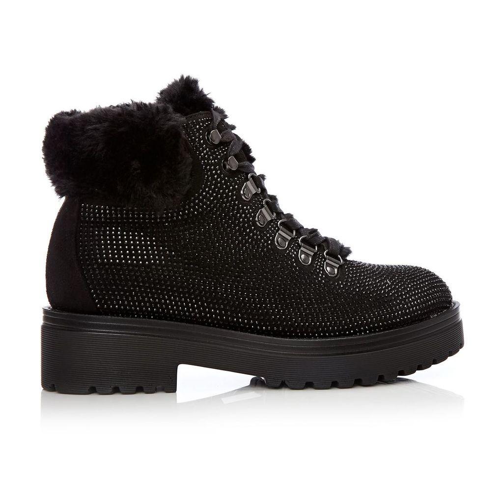 Moda in Pelle Berri Black Medium Casual Short Boots