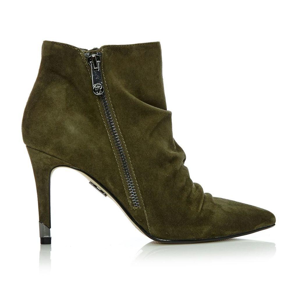 Moda in Pelle Lazaro Khaki High Smart Short Boots