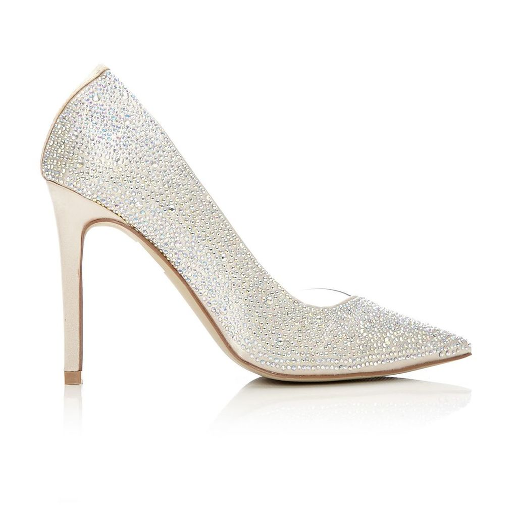 Moda in Pelle Katrina Ivory Very High Occasion Shoes