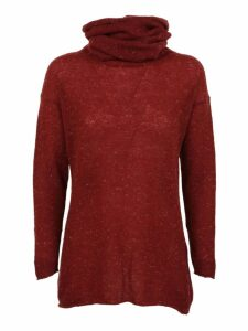 f cashmere Gathered Neck Sweater