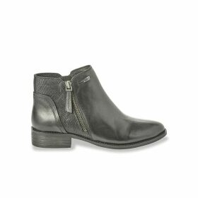 Network Leather Ankle Boots