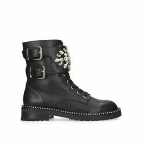 Kurt Geiger London Stoop - BlackEmbellished Biker Boots