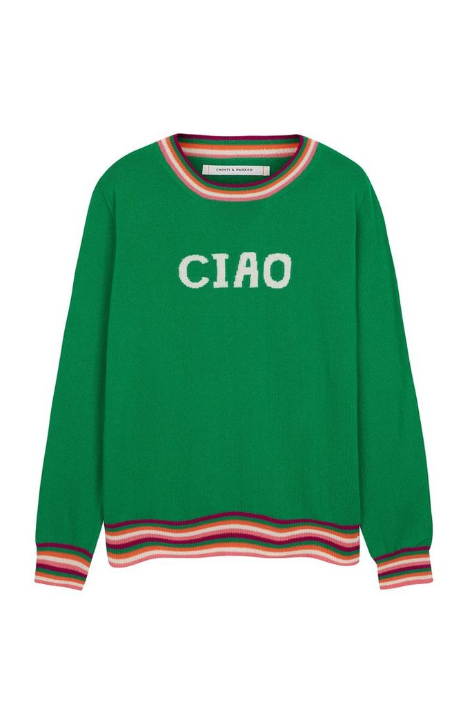 NEW EXCLUSIVE Green Ciao Cashmere Sweater