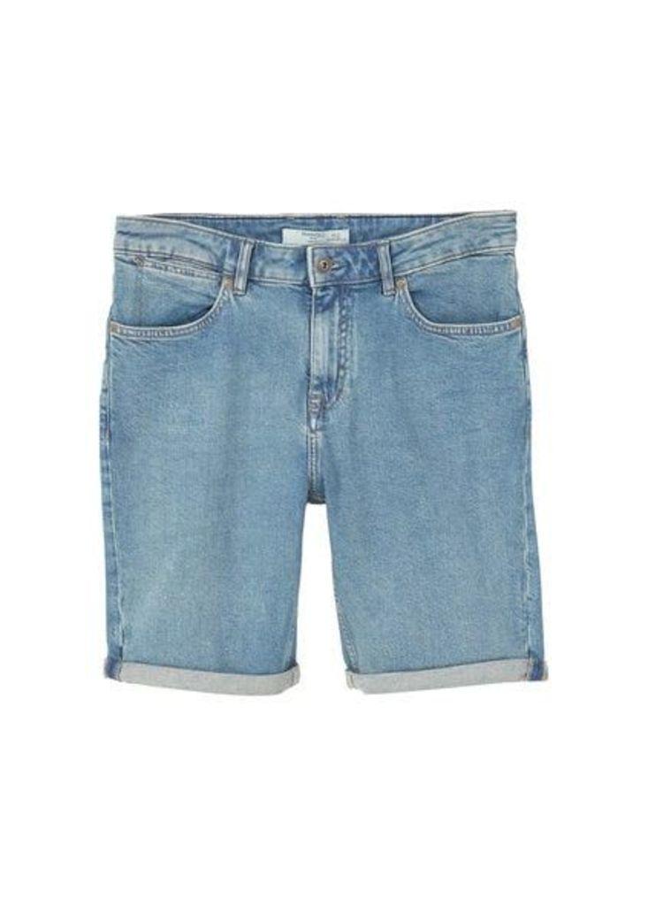 Light wash denim bermuda shorts