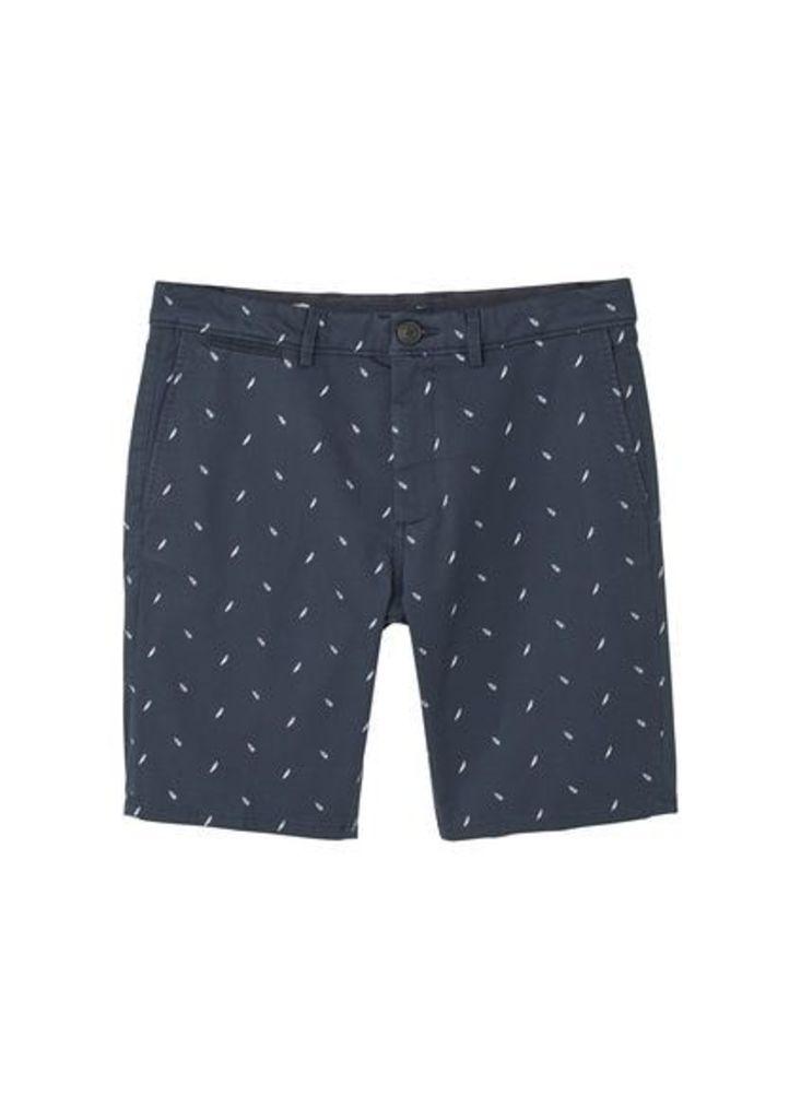 Printed cotton bermuda shorts