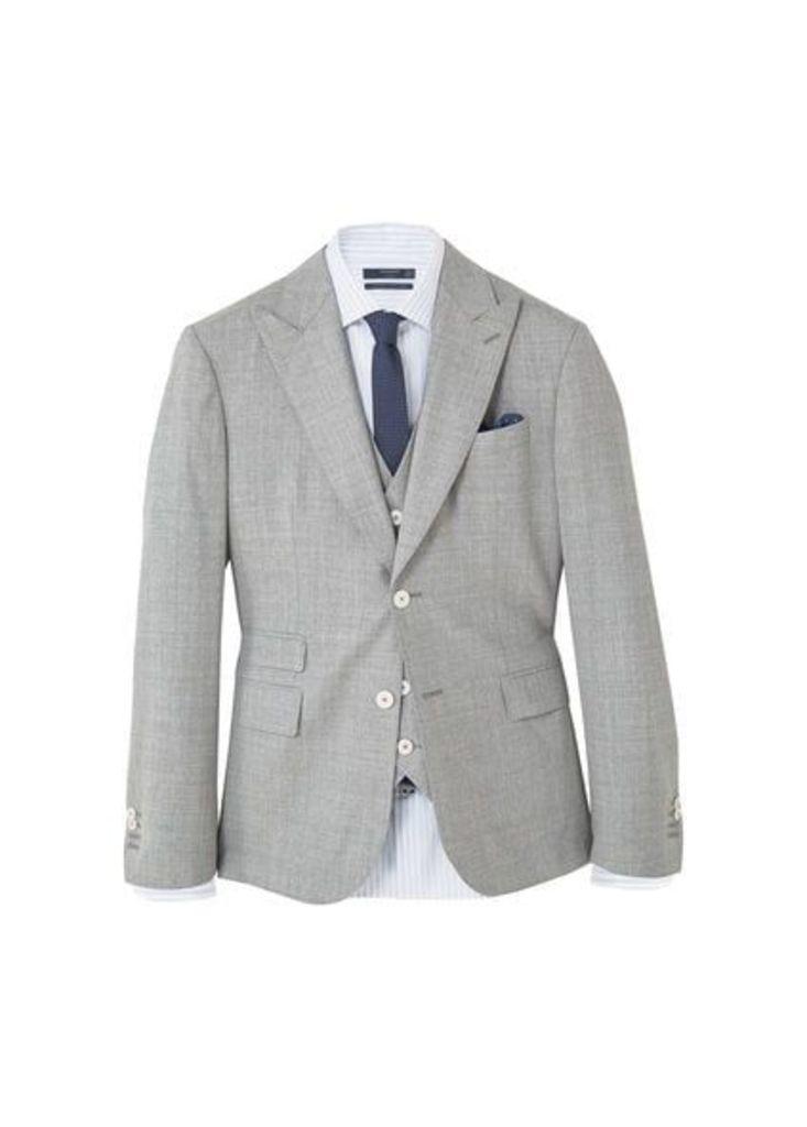 Slim-fit cool wool suit blazer