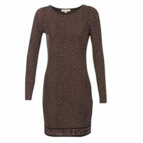 MICHAEL Michael Kors  CHEETAH LS BORDER DRS  women's Dress in Brown