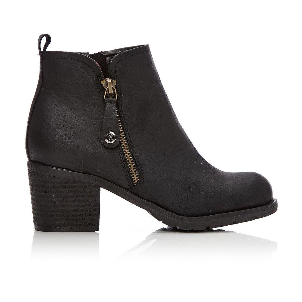 Moda in Pelle Brunildi Black Medium Casual Short Boots