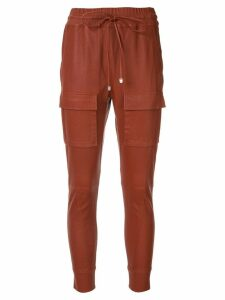 Manning Cartell skinny drawstring trousers - Brown