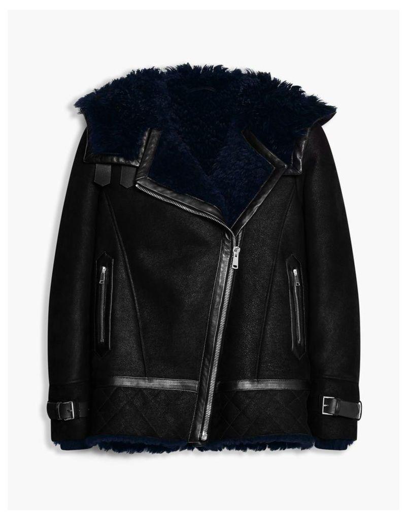 Belstaff Marsh Shearling Jacket Black