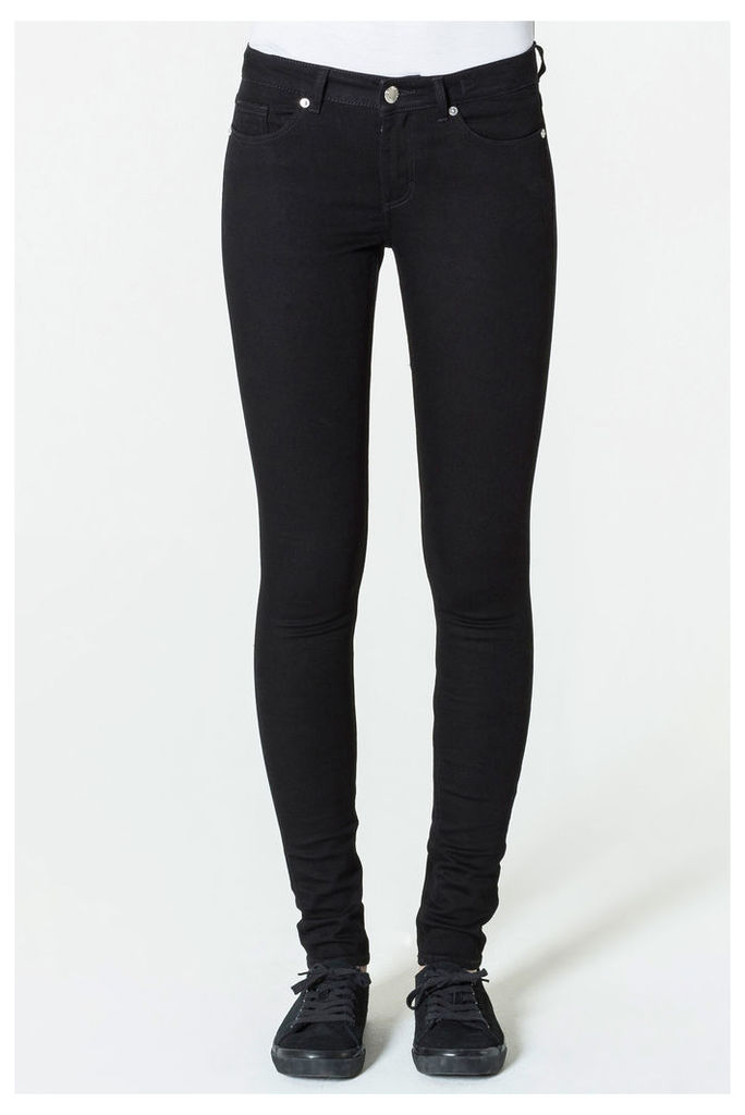 Mid Snap Black Coal Jeans