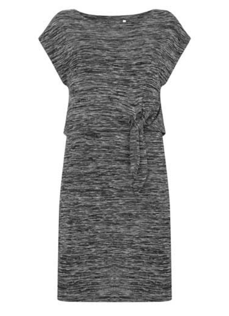 Black Marl Knot Front Tunic