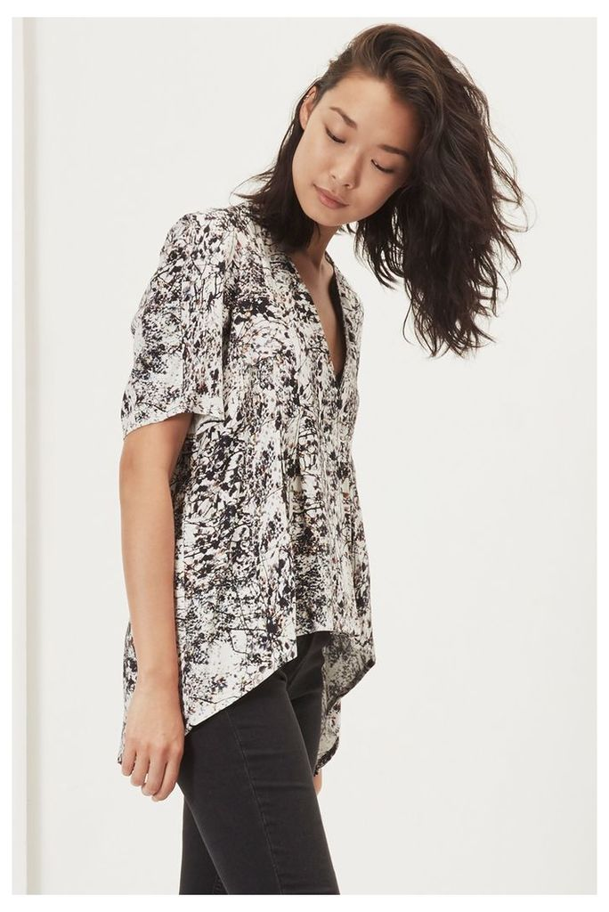 Brimstone Wood Pleated Front Blouse