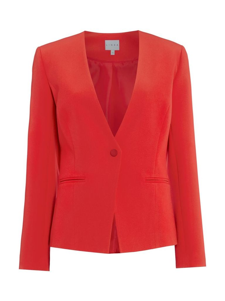 Linea Khloe structured jacket with popper, Red