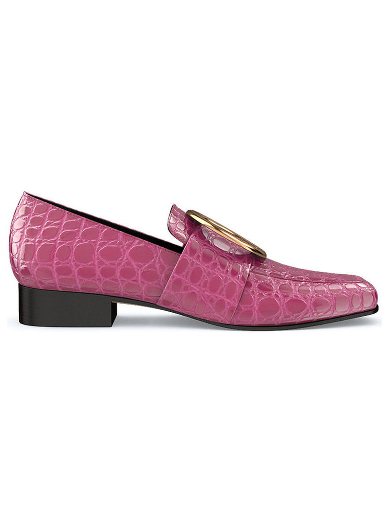 Dorateymur - Harput loafers - women - Crocodile Leather/Leather/metal - 36.5, Pink/Purple