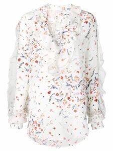 Ermanno Scervino floral print blouse - NEUTRALS