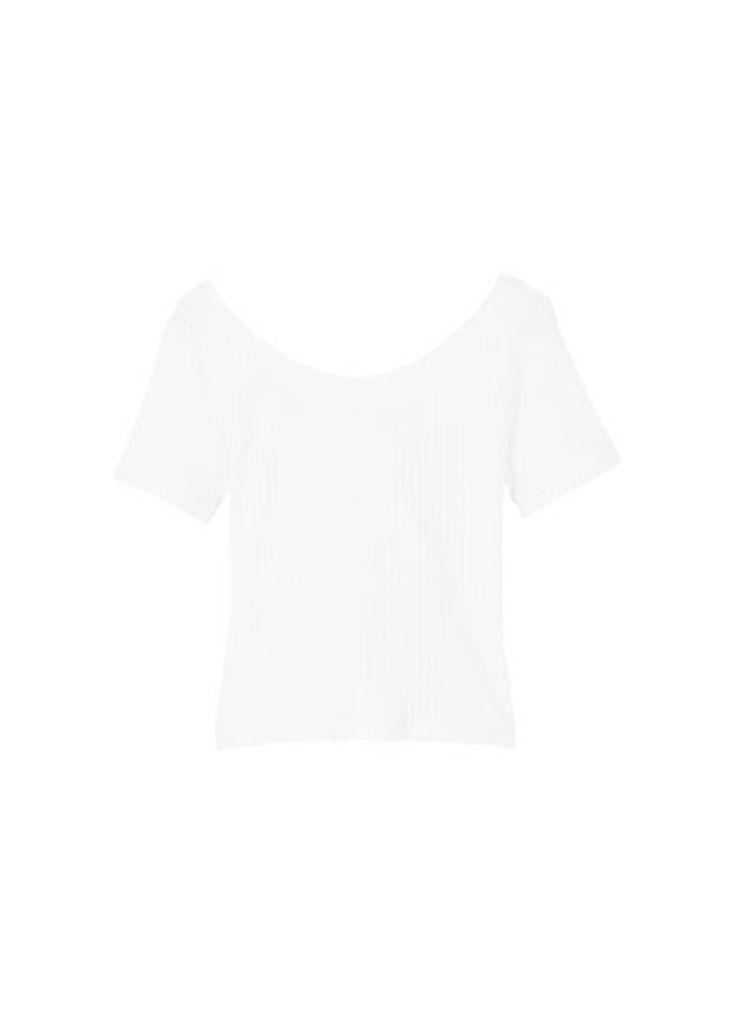 Bow textured t-shirt