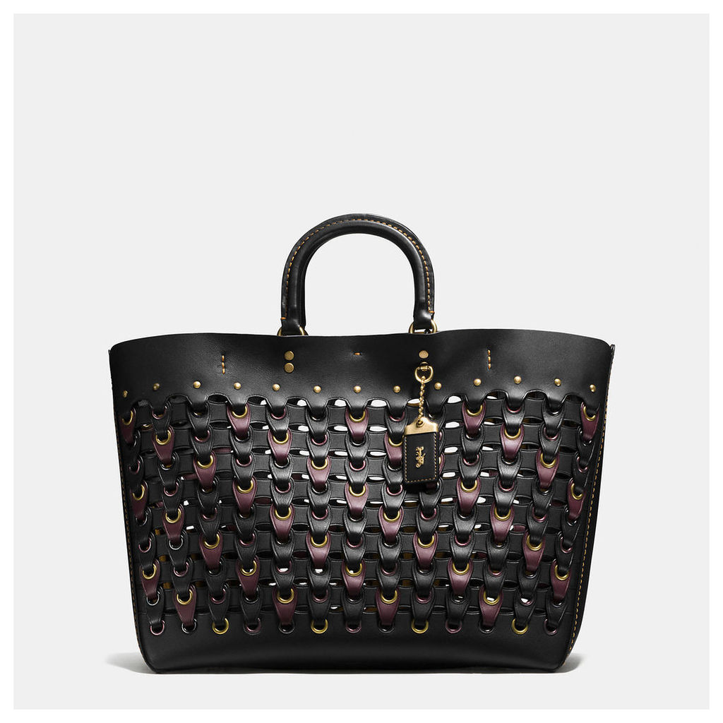 Coach Rogue Tote In Link Glove Calf Leather