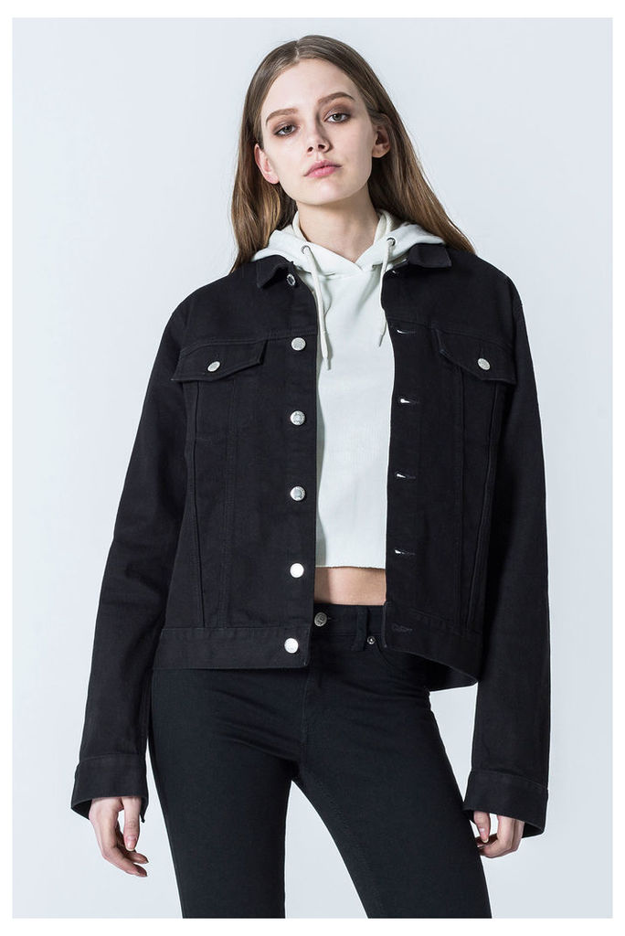 Staple Deep Black Denim Jacket