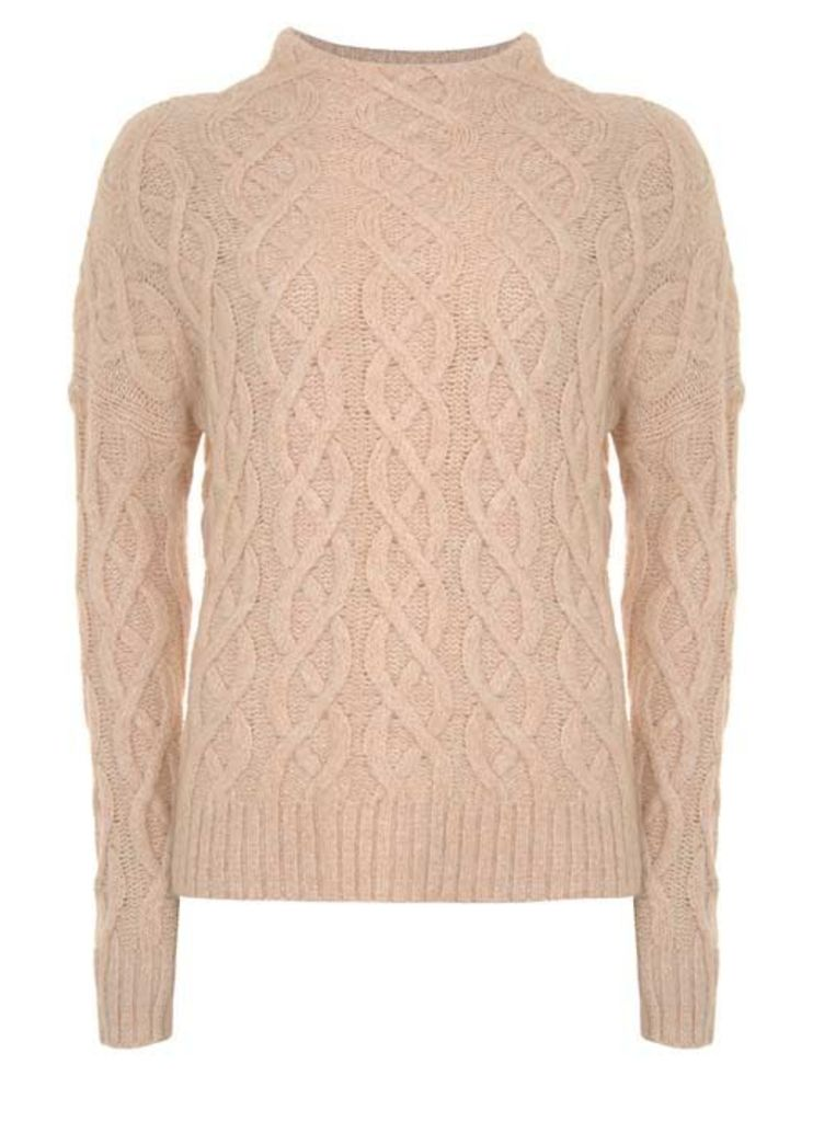 Apricot All Over Cable Knit
